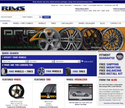 New Wheels Nex Homepage