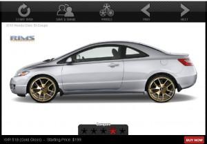 2010 Honda Civic w/ Gold Rims